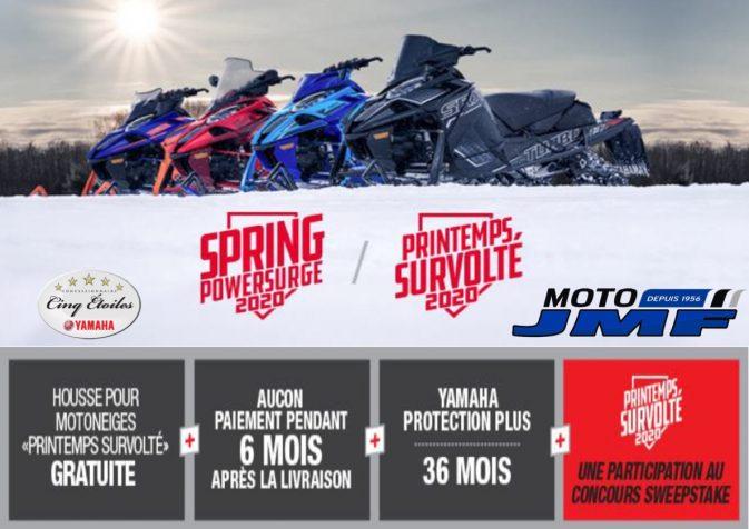 Promo motoneiges YAMAHA 2020