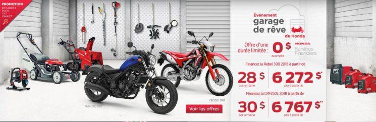Garage de rêve HONDA moto