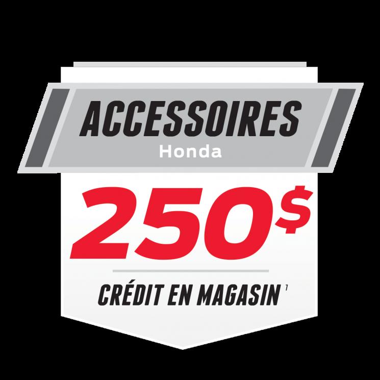 250$ D'ACCESSOIRES EN CADEAU