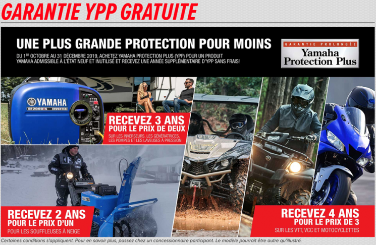 Prolongation YPP gratuite Motos