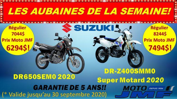 Profitez du meilleur des deux mondes et explorez les sentiers ou les routes sur ces superbes motos double usage!!